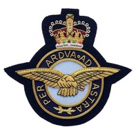 The Royal Air Force - Blazer badge RAF Wire Embroidered Blazer Badge