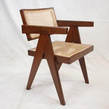 Replica Modern Design Le Corbusier Pierre Jeanneret Solid Teak Living Room  Chair Dining Room Chair - Buy High Quality Fancy Living Room ...