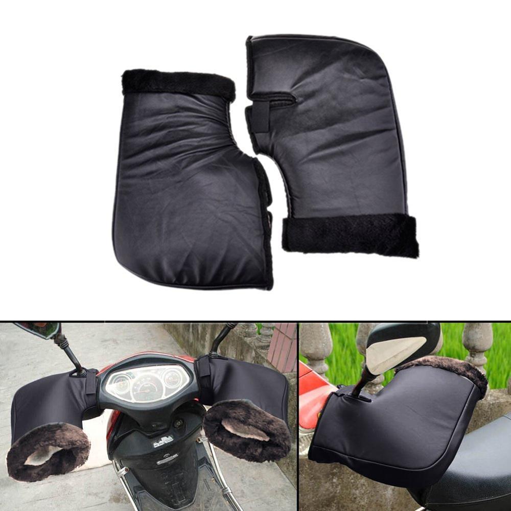 Motorcycle Grip HandleBar Muff Handlebar Protective Waterproof Winter Warmer Thermal Cover Gloves Muff