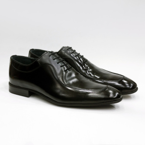 Wholesale Custom Brand Black Polished Genuine Leather Mens Oxford Dress Shoes