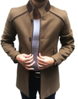 Long Wool Blend Overcoat for Men New Design Trench Coat Thick Winter Men's Woolen Coat