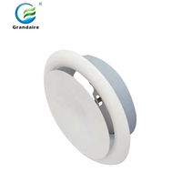 Metal SAV Adjustable Round Ventilation Cover Air Vent Diffuser