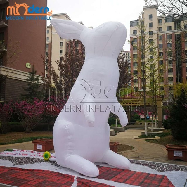 5m high giant inflatable white <strong>rabbit</strong>