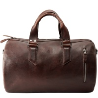 Tan Leather Duffle Bag Men 35L, Shoulder Travel Weekender, Gym Sports Carry On, Handmade Overnight Clothes CLR-0044