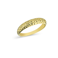 Wedding Hammered Gold Jewelry 14k Gold Ring