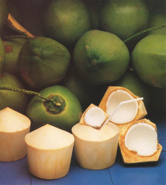 Fresh Green Young Coconuts