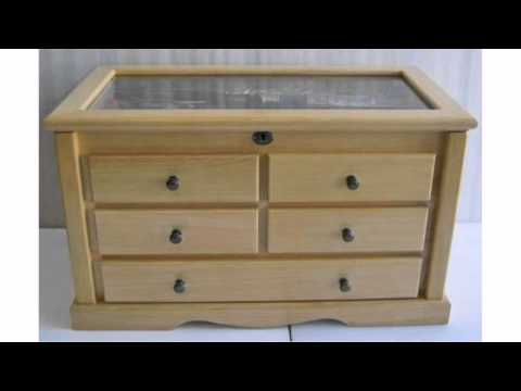 Knife Display Storage Cabinet with Showcase top, Solid Wood, with Locks, KC07-NAT Quick Review