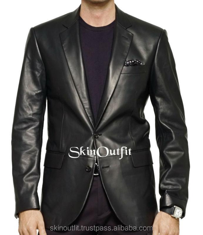 Mens Leather Sport Coat/blazer, Mens Leather Sport Coat/blazer ...