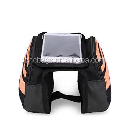 Front Top Tube Bike Bag 5.5 inch Mobile Phone Screen Touch Bicycle Frame Bags