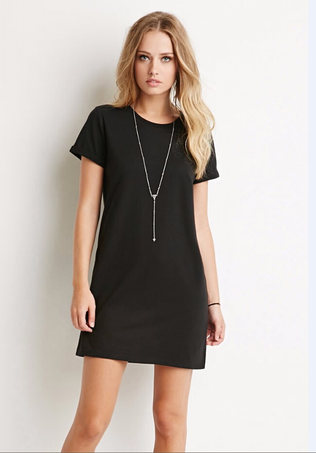 ec4637b26637 Buy plain black t shirt dress - 65% OFF! Share discount
