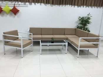 Lounge Metal Sofa Set 1 Armchair Bench 2