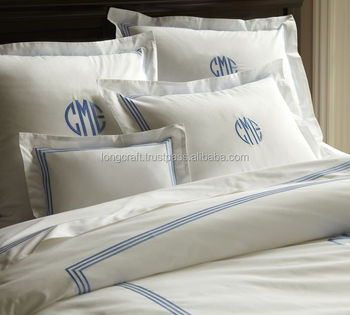 Monogram Cotton Bedding Set, Duvet, Pillow, Bed Sheet