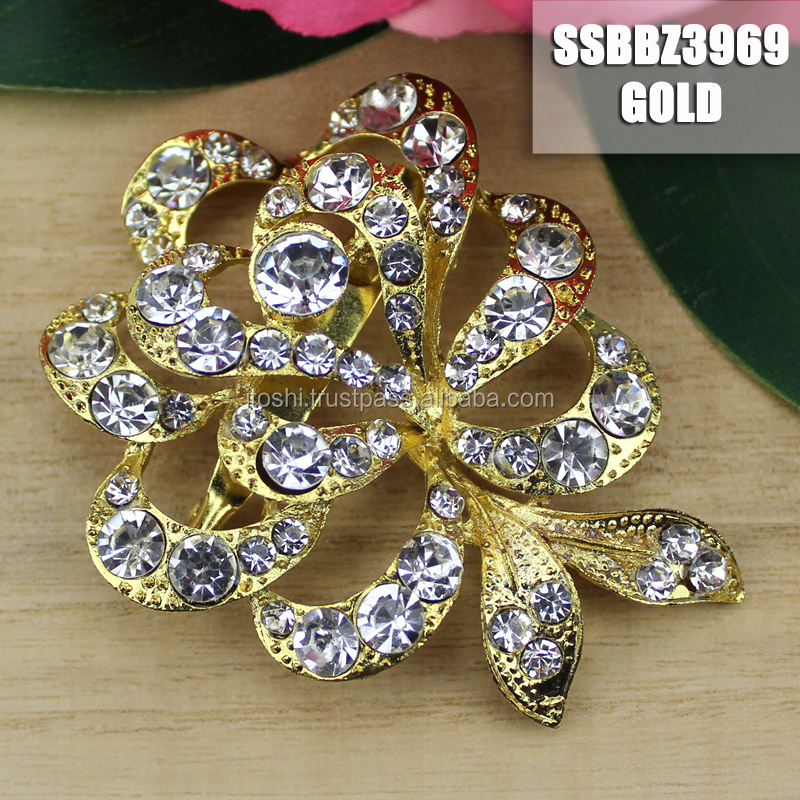 Factory Shining Brooch Alloy Factory Custom Design Multicolor Pin Jewelry
