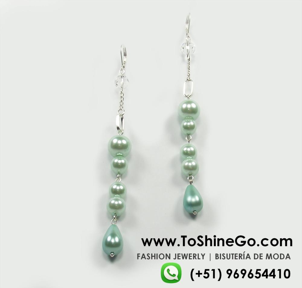 Venta caliente de gran tamaño pendientes de joyería de moda 2015 tendencia verde pastel de bisuteria