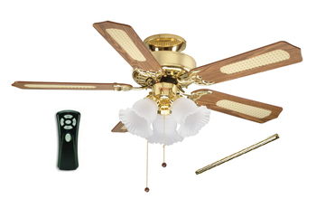 Polished brass ceiling fan lights 12 drop rod remote control polished brass ceiling fan lights 12quot drop rod remote control 508861 aloadofball Gallery