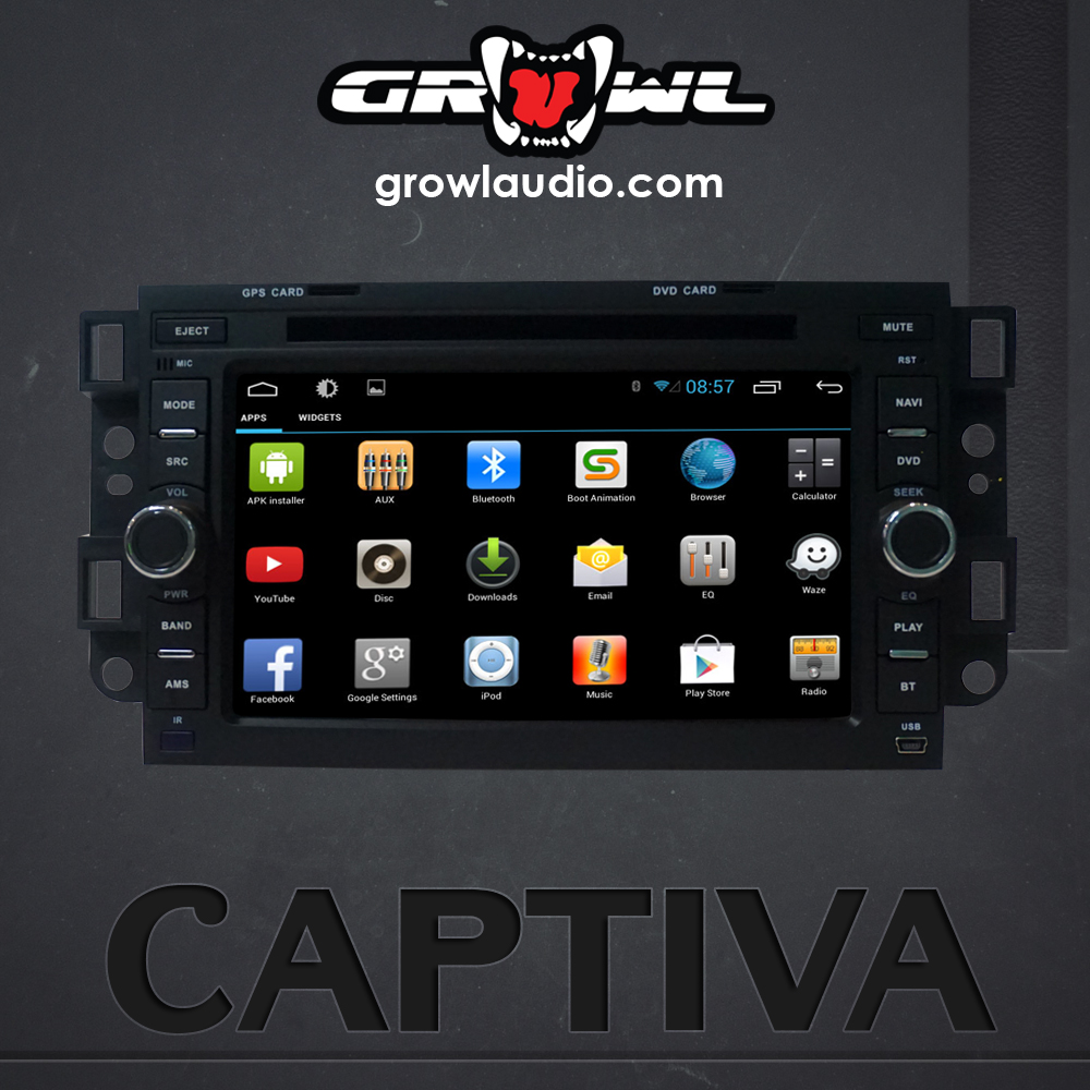 "OEM ANDROID HEAD UNIT 8"" CAPACITIVE TOUCH FIT FOR CHEVROLET CAPTIVA"