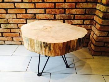 Tavolino Naturale Con Un Tronco D 39 Albero Buy Tronco D