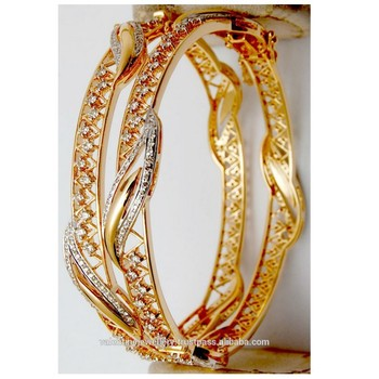fancy design diamond gold bangles buy ladies fancy