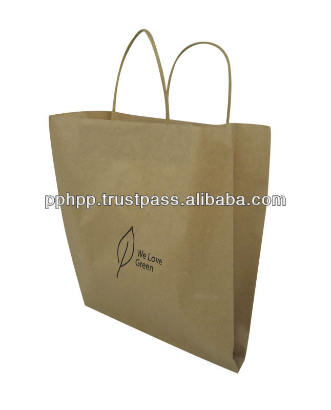 Paper Bag with Paper Handle (WLG) 11 x 4 x 10""