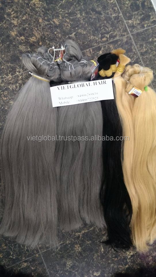 Vietglobalhair High Quality Perfect color machine weaving hair