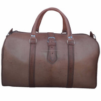 wholesale handmade moroccan leather travel bag 02