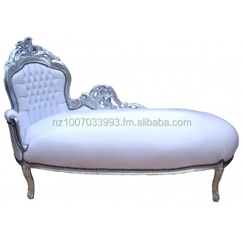 French baroque chaise lounge chair antique chaise lounge for Antique chaise lounge prices