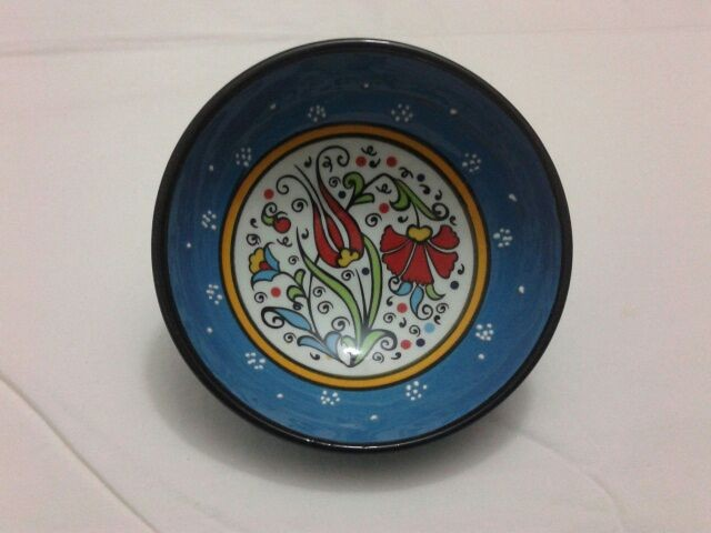10 cm relievo and brush desigin ceramic or ottoman china