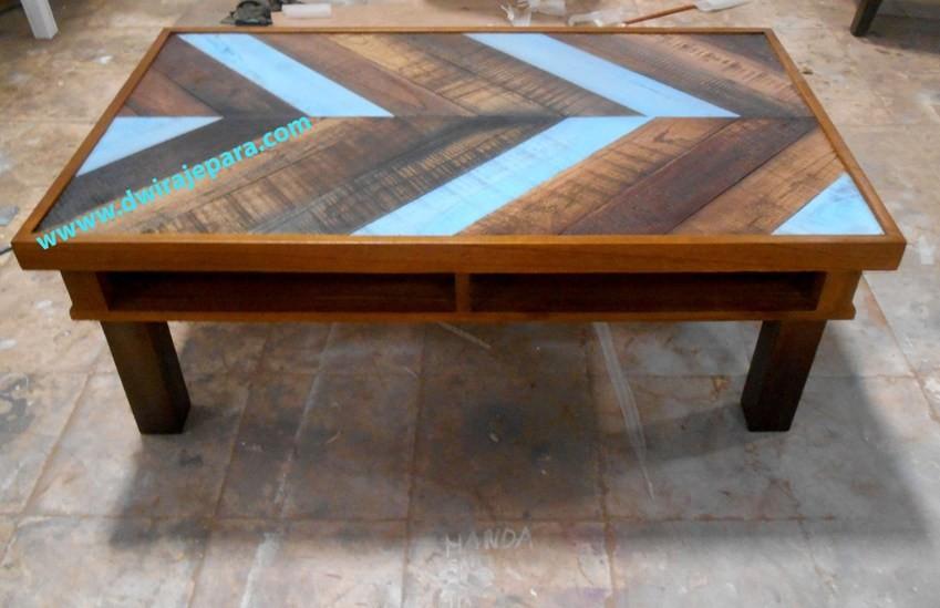 living room vintage mindi mesa de caf natural combinado y pintado lavado de colores retro muebles