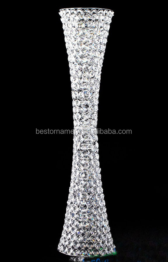 Beaded Real Crystals Hurricane Vase For Wedding Cneterpiece Buy