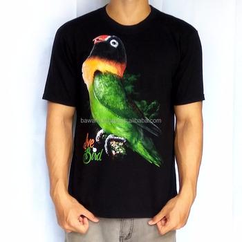 c68d95a84 Bawara Premium T-Shirt 100% Soft Cotton | Bird Themes | Lovebird Black  Masked