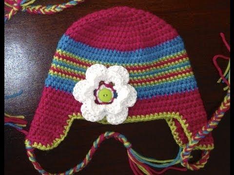 69b016c4dfa Get Quotations · How to Crochet a Newborn Hat  Braided Ear Flap Hat