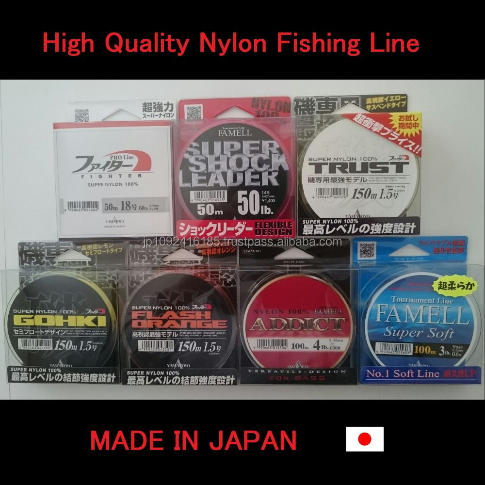 Durable and High quality carp fishing line with high knot strength made in Japan