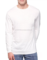 Fashion brand Casual look Customized cheap white colored baseball long sleeves tee for youth