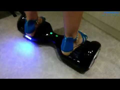 Self balancing board 2 wheel electric standing scooter with LED