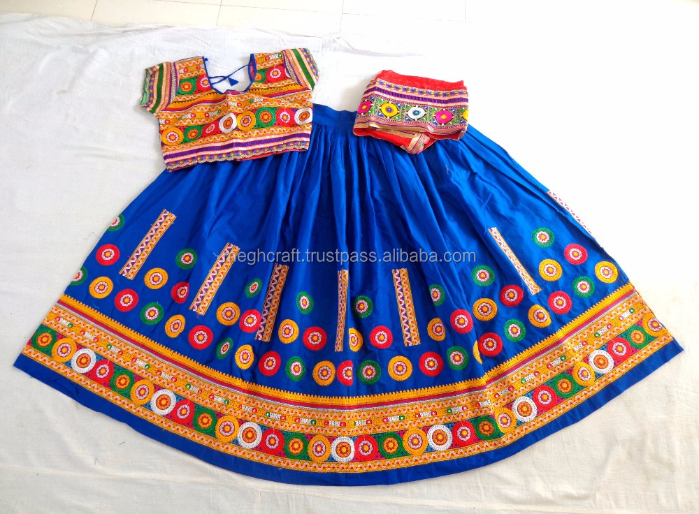 Navratri ghagra choli - Wholesale Gujarati Chaniya Choli - Designer cotton rabari embroidered Lehenga-Navratri traditional dress