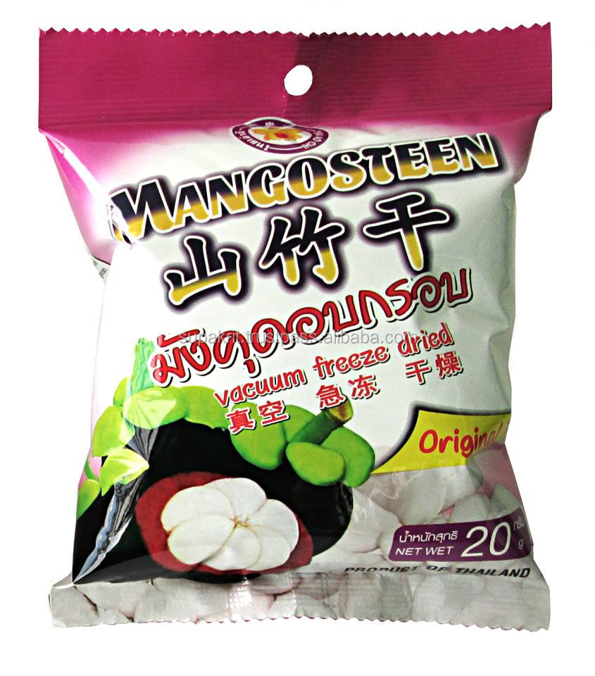 Best Selling Freeze dried Mangosteen 20 g pack dried <strong>fruit</strong> snack from Thailand