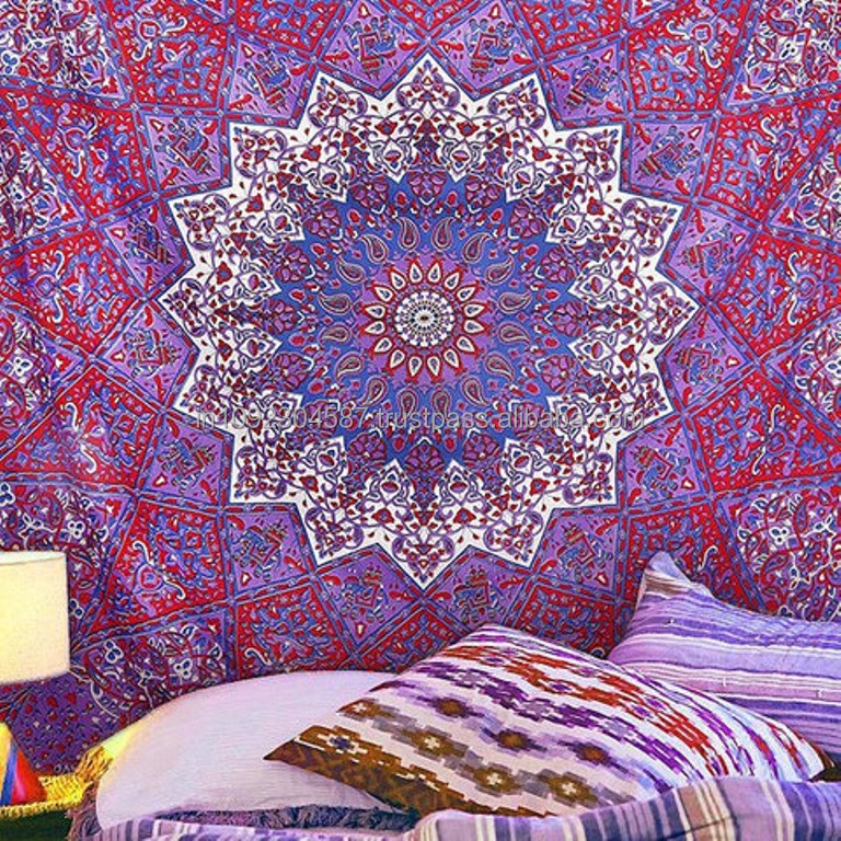 Indian Hippie Mandala wall hanging tapestries Bedspread Printed Cotton Fabric wall hangings Throw Wholesale Decor