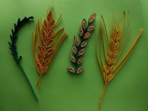 Get Quotations How To Make Quilling Wheat Grain Leaf Stem Using Comb