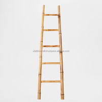 Bathroom bamboo ladder tower rack