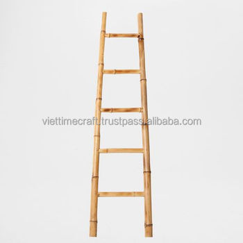 Bathroom bamboo ladder tower rack buy ladder storage for Escaleras zara home
