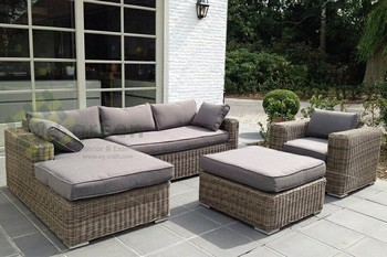 Evergreen Wicker Furniture   Sectional Sofa   Rattan Furniture   Patio  Outdoor Sofa Set