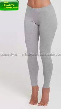 05a1629cff Gray Ash Colour Plain Legging Ladies skinny yoga High Quality Custom Cotton  Elastane Lycra Spandex Cheap