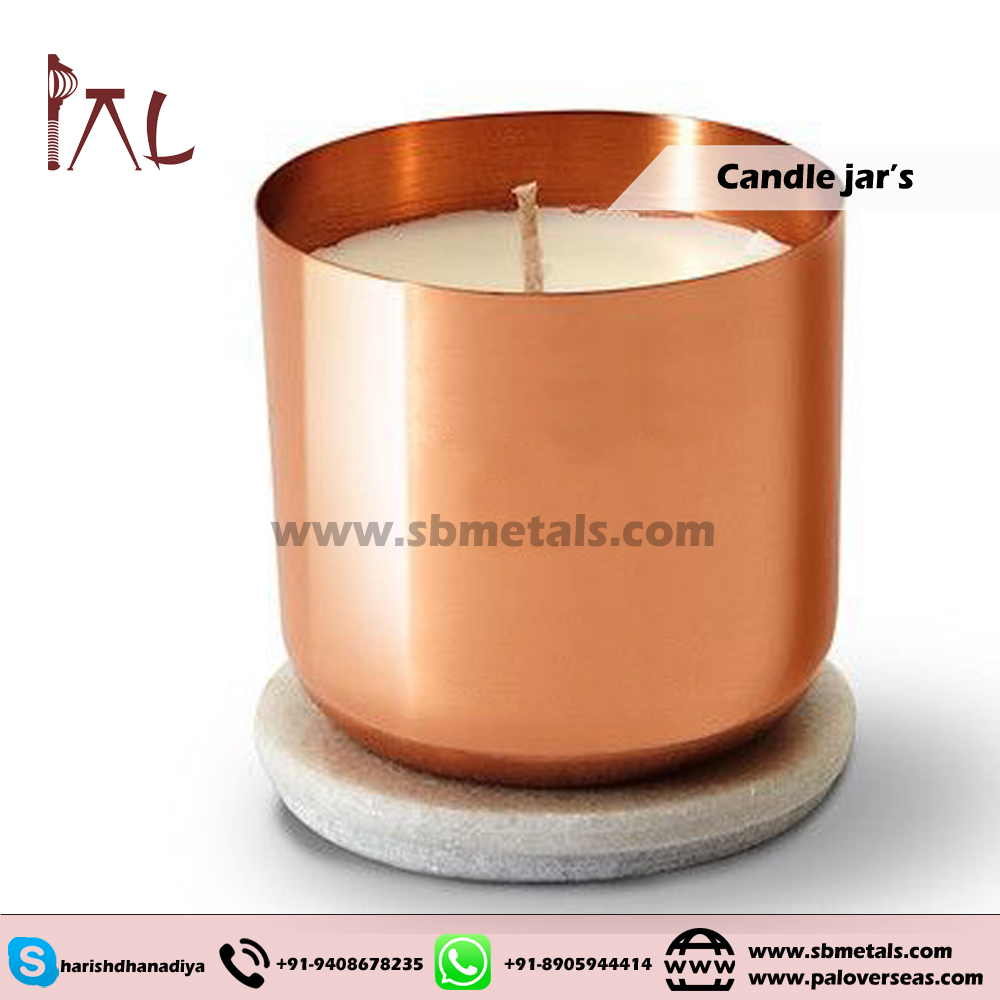 COPPER CANDLE JAR