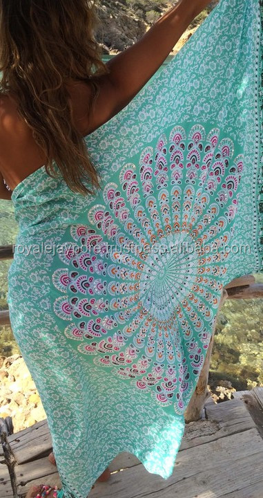 BOHO SHINNY SARONG OR BEACH PAREO