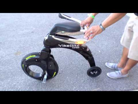 YikeBike Carbon Electric Bike Review Street Bike Stunts