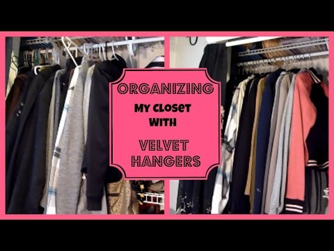 Get Quotations · Organizing My Closet With Velvet Hangers    Huggable  Hangers