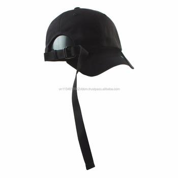 48edfa6f455cc7 [FL255-FL256] BLANK LONG TAIL baseball cap/ plain ball cap Korea headwear