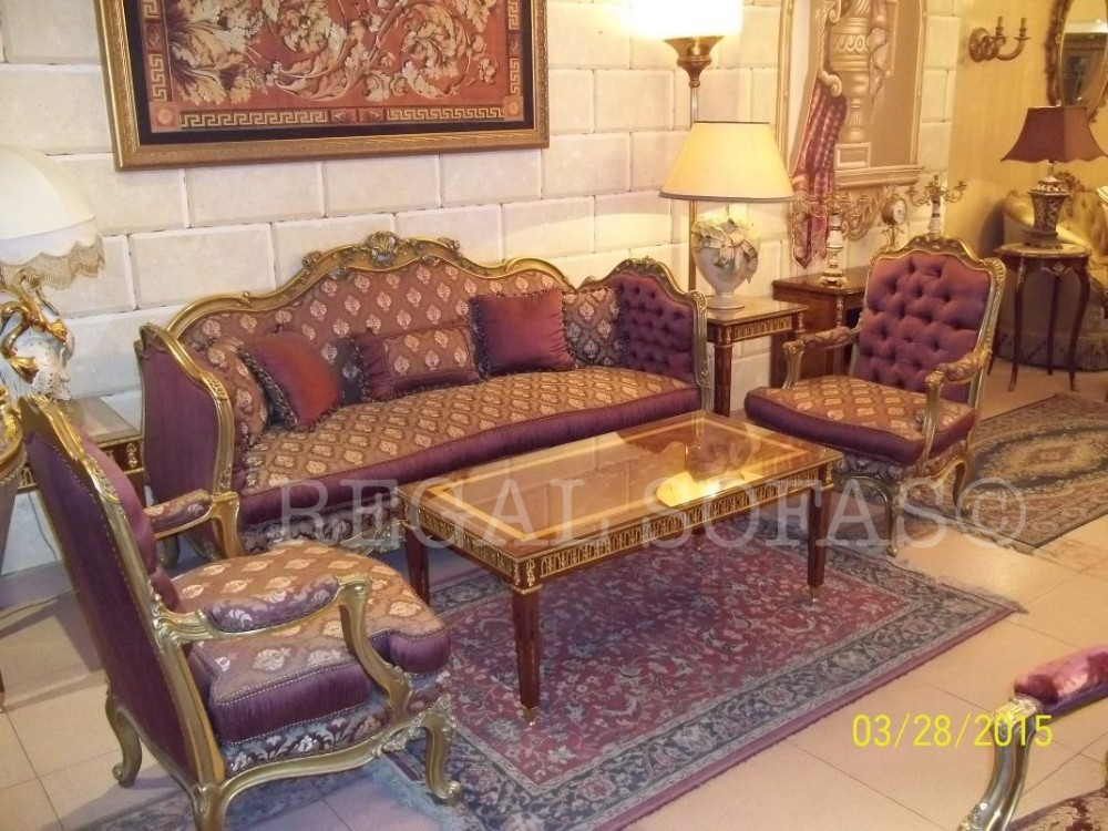 Damask Red Mauve Maroon Pink Sofa / Couch Suite Salon Set Living Room  Furniture Set Italian French Arabian Indian Royal Maharaja   Buy Couch Sofa  Set ...