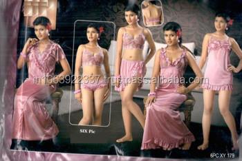 dfdf232423 Nighty Set In 6 Pc - Buy Indian Nighties For Sale