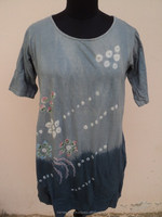 Fashion Women T Shirts Ladies Bandhej Tie Dye Printed Knitted Top's / 2016 Indian garments wear